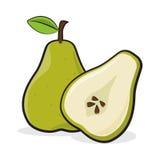 La pera fruttifica intero ed affettato Fotografia Stock Libera da Diritti