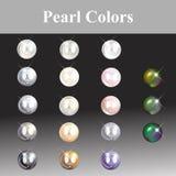 La perla colorea la pintura de un diseñador de la joyería Imágenes de archivo libres de regalías