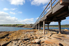 la perouse的,东悉尼小海岛 库存照片