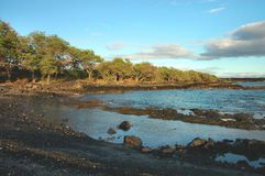 La Perouse Bay Beach, Maui. Evening light at a small cove on La Perouse Bay on the south shore of Maui in the Hawaiian Islands Royalty Free Stock Photos