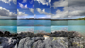 La Perouse Bay Maui. A composite of 25 digital photos taken on my Casio digital camera then composed in Photshop as one large image Stock Photos