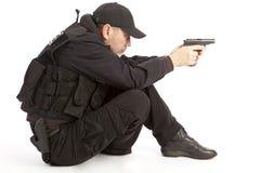 La persona armada. Imágenes de archivo libres de regalías