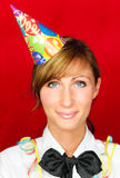 La persona del partido celebra Año Nuevo Imagen de archivo