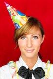 La persona del partito celebra il nuovo anno Immagine Stock