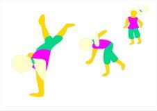 La persona femenina hace ejercicios gimnásticos. Fotografía de archivo libre de regalías