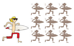 La persona que practica surf sombrea el juego visual Imagenes de archivo