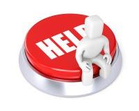 La persona se sienta en el botón, simboliza el requ Imagenes de archivo