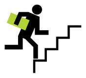 La persona si arrampica in su Fotografie Stock Libere da Diritti
