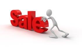 La persona spinge la vendita Immagini Stock