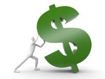 La personne évoque le signe du dollar illustration libre de droits