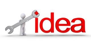 La personne aide avec l'inspiration Image libre de droits