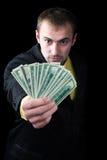 La personne et l'argent Images stock