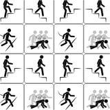 La personne monte le modèle sans couture d'escaliers Photographie stock libre de droits