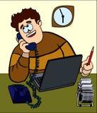 La personne parlant par le téléphone Images libres de droits
