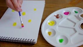 La personne peint sur le papier clips vidéos