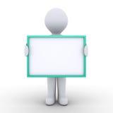 La personne tient un signe vide devant lui Image libre de droits