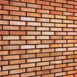 La perspectiva beige amarilla roja del fondo de la textura de la pared de ladrillo de la multa del moreno del Grunge texturizó el Fotografía de archivo libre de regalías