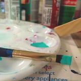 La perspectiva de un pintor Imagen de archivo
