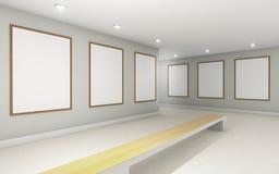 La perspectiva dos de Art Gallery señala y monocom de la pared del marco Imagenes de archivo