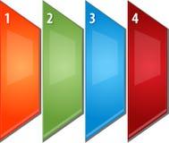 La perspectiva en blanco del diagrama del negocio cuatro artesona el ejemplo Imagen de archivo libre de regalías