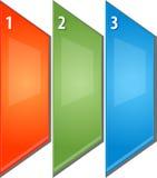 La perspectiva en blanco del diagrama del negocio tres artesona el ejemplo Imagenes de archivo