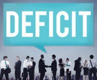 La perte de risque de déficit déduisent le concept de récession Photo stock