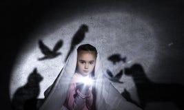La pesadilla del niño Foto de archivo libre de regalías