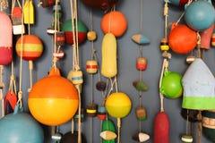 La pesca flota en la falta de definición para la abstracción Imagen de archivo libre de regalías