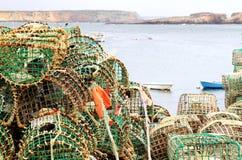 La pesca tormenta nel porto di Sagres, Portogallo Fotografie Stock
