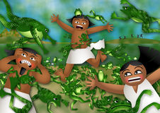 La peste delle rane royalty illustrazione gratis