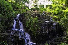 La Petite Cascade - The Little Waterfall of the Cance and Cancon rivers  - Normandy, France. La Petite Cascade - The Little Waterfall of the Cance and Cancon royalty free stock photo