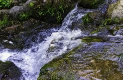 La Petite Cascade - The Little Waterfall of the Cance and Cancon rivers  - Normandy, France. La Petite Cascade - The Little Waterfall of the Cance and Cancon royalty free stock photos