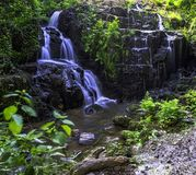 La Petite Cascade - The Little Waterfall of the Cance and Cancon rivers  - Normandy, France. La Petite Cascade - The Little Waterfall of the Cance and Cancon stock photography