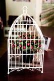 La petite décoration de cerisier dans le coin de mariage est si belle Images libres de droits