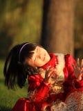 la petite fille asiatique suffisante Image stock