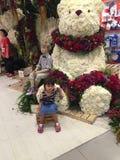 La petite fille avec des fleurs Images libres de droits