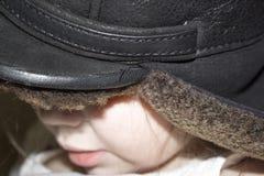 La petite fille dans le chapeau Images libres de droits