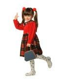 La petite fille dans une robe rouge photos libres de droits