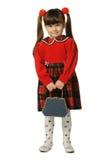 La petite fille dans une robe rouge photos stock