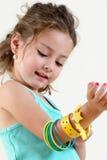 La petite fille de la mode Photographie stock libre de droits