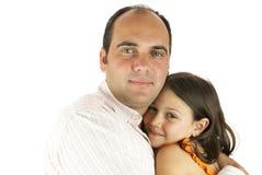 La petite fille du papa Photographie stock libre de droits