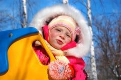 La petite fille en parc Images stock