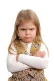 La petite fille fâchée Photos stock