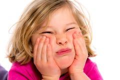 La petite fille s'ennuie Photographie stock libre de droits