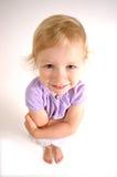 La petite fille a tiré grand-angulaire Images libres de droits
