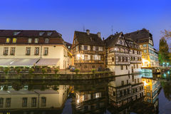 La Petite France at dusk time,Strasbourg,Alsace Stock Photography