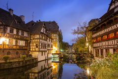 La Petite France at dusk time,Strasbourg,Alsace Royalty Free Stock Photo