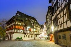 La Petite France at dusk time,Strasbourg,Alsace Stock Image