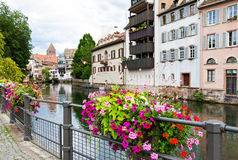 La Petite France in Strasbourg. La Petite France district in Strasbourg, France at summer royalty free stock photography