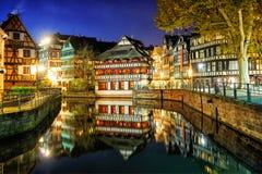 La Petite France, Strasburgo, l'Alsazia, Francia immagini stock